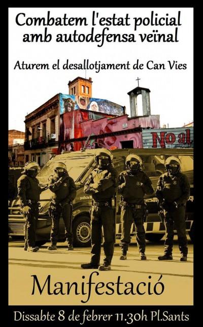 Barcelona MANIFESTACIÓ Dissabte 8 de febrer, 11:30h, plaça de Sants